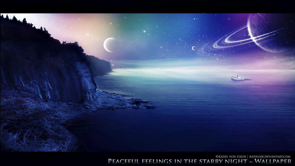 Peaceful feelings in the starry night by RazielMB