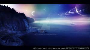 Peaceful feelings in the starry night