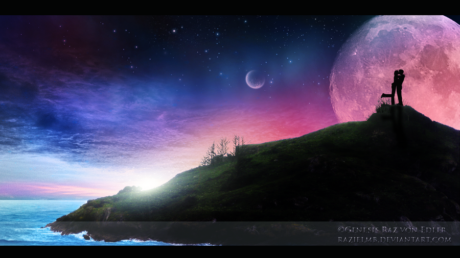 Love under stars by RazielMB