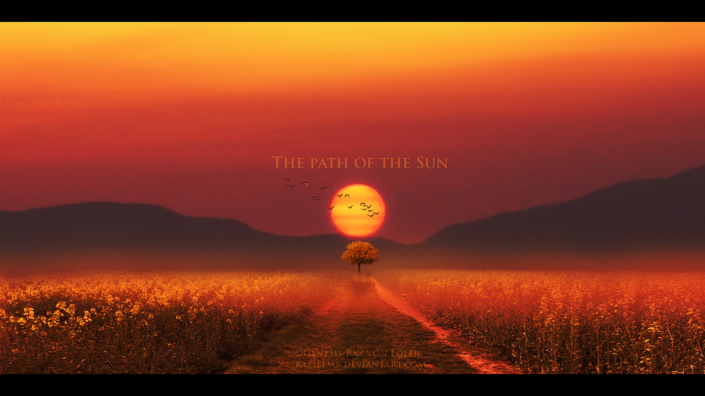 The path of the sun by RazielMB