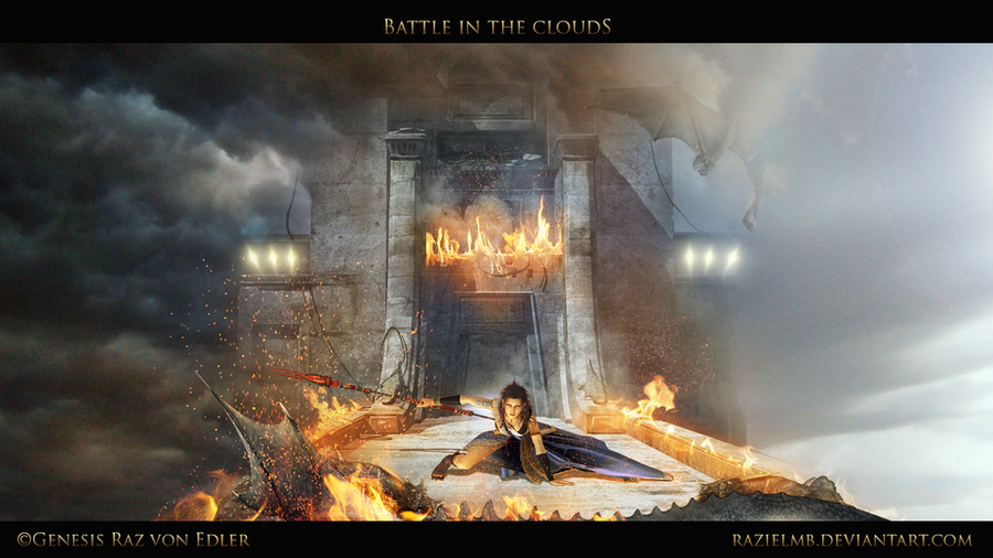 Battle in the Clouds by RazielMB