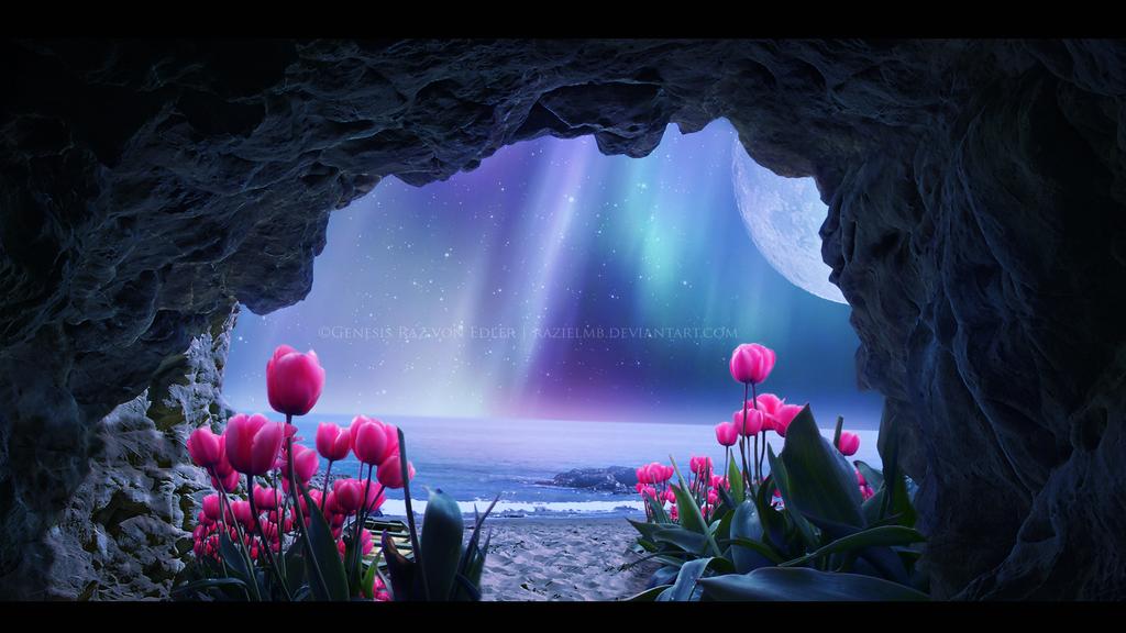 Tulips Island III - Mystic Night by RazielMB