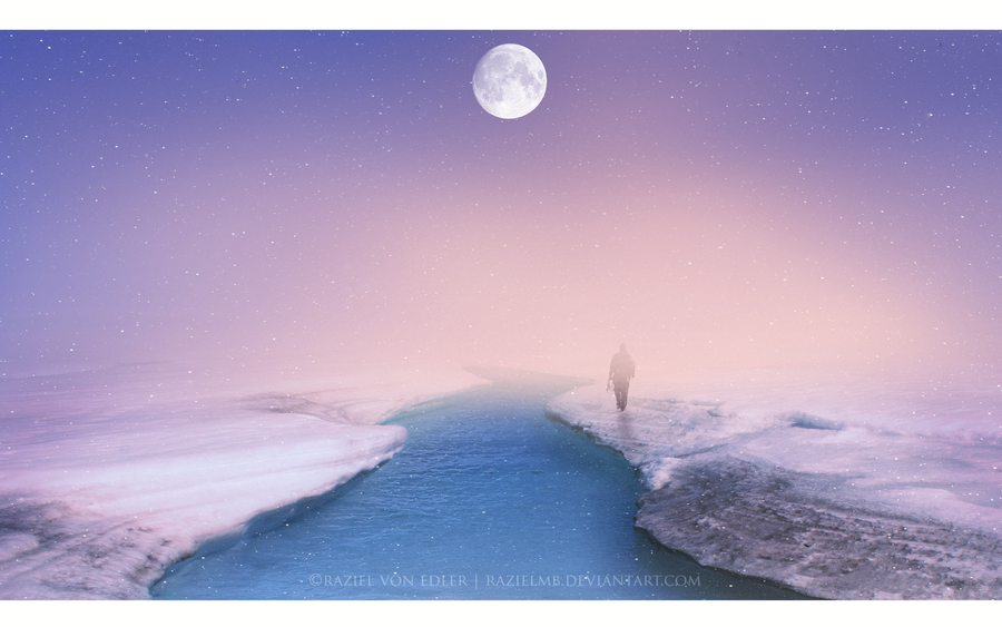 Walking on ice by RazielMB