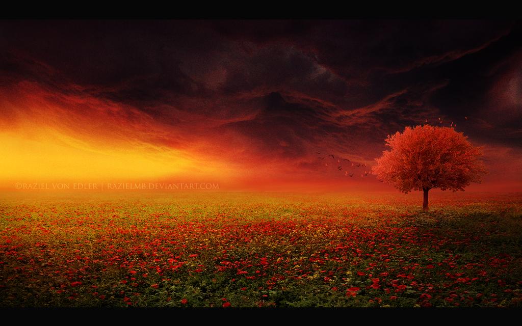 The red tree by RazielMB