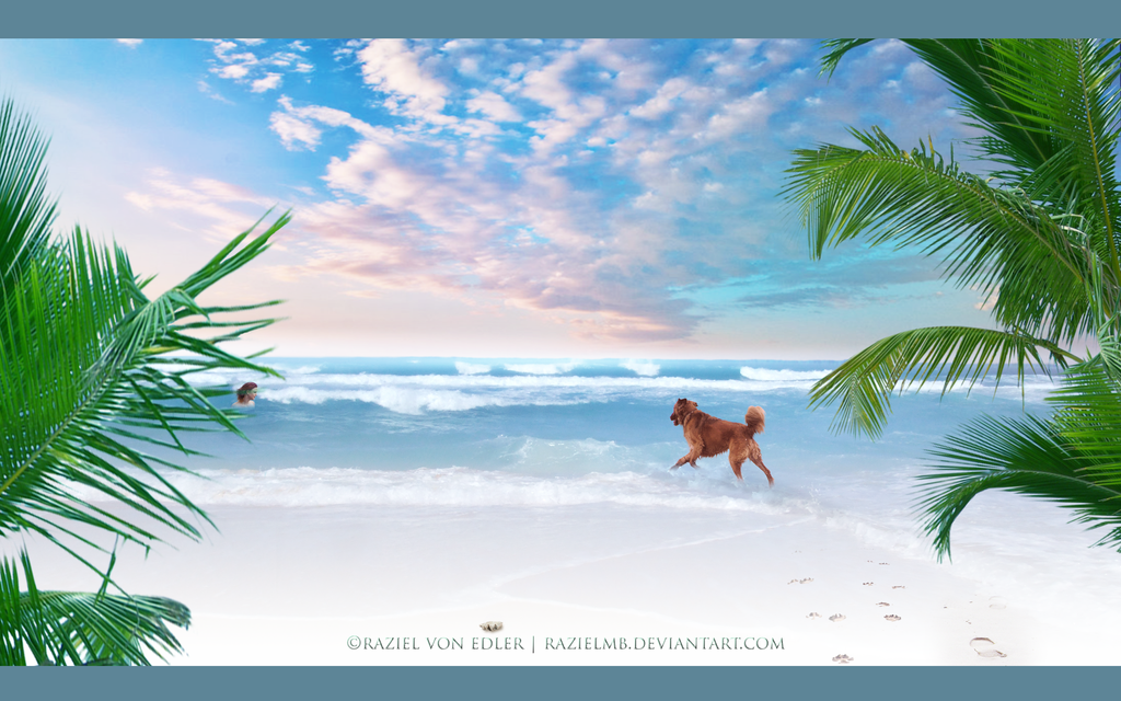 White beach by RazielMB