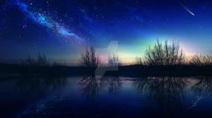Night mirror by Ellysiumn