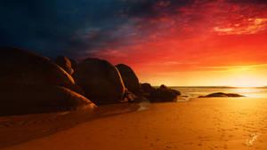 Fire sky by Ellysiumn
