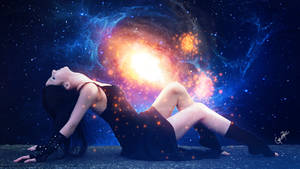 Cosmic baptism by Ellysiumn