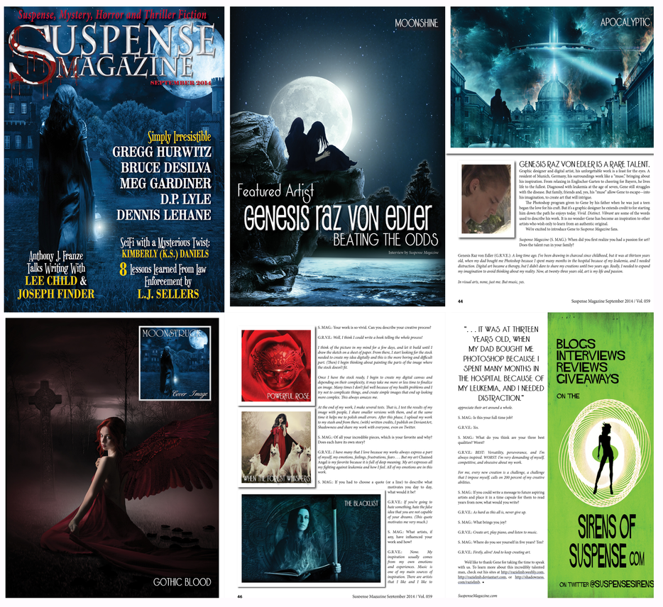 Featured in Suspense Magazine by RazielMB