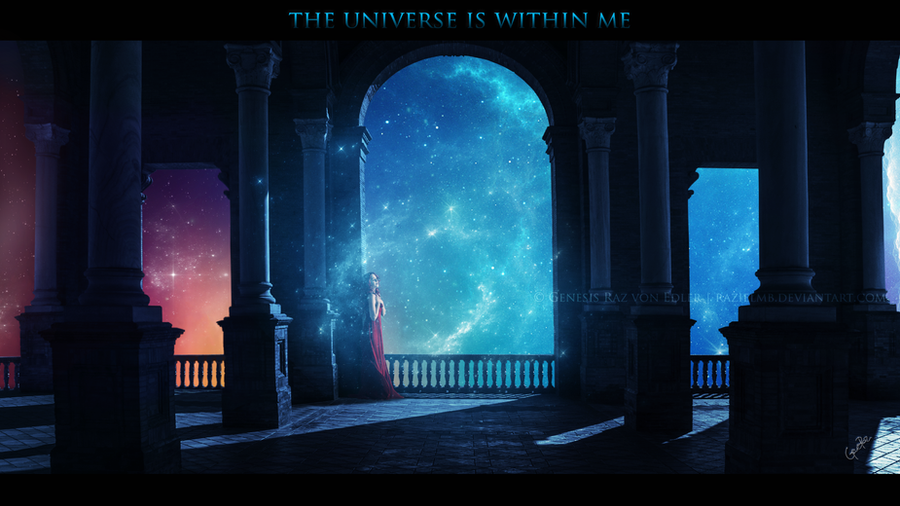 The universe is within me by RazielMB