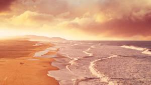 A walk on the beach by Ellysiumn