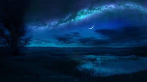 Bright night by Ellysiumn