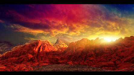 Red mountains by Ellysiumn