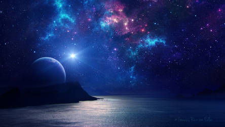 Dreams on starry night by Ellysiumn