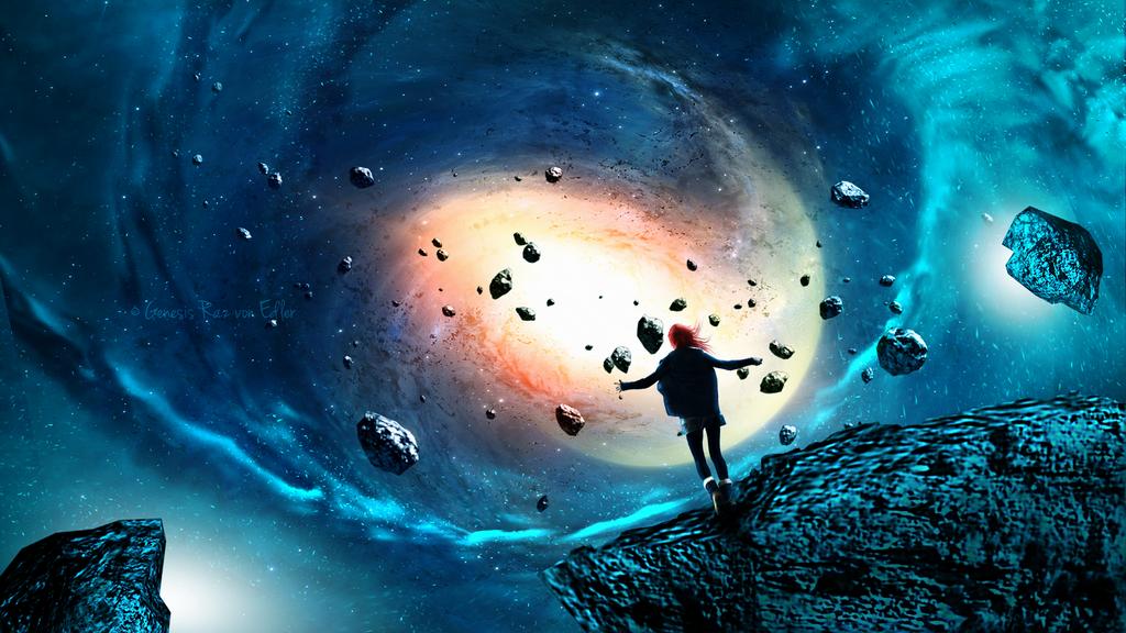 Flying between meteorites by GeneRazART