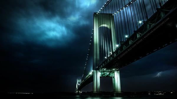 The bridge in the storm by RazielMB