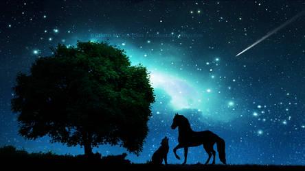Singing under the stars by Ellysiumn