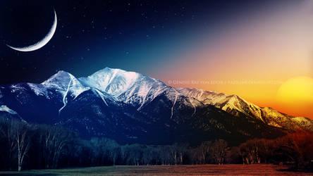 Eternal love between Moon and Sun by Ellysiumn