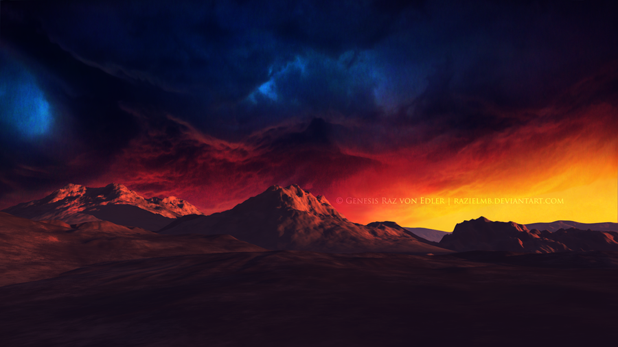 Fire in the sky II by Ellysiumn