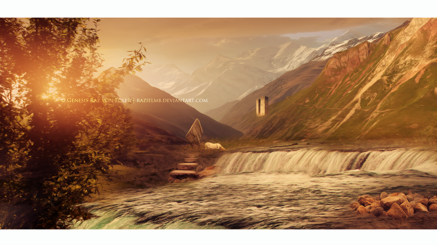 Place for daydreaming - matte painting by RazielMB
