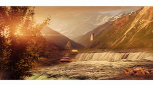 Place for daydreaming - matte painting by Ellysiumn