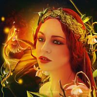 Nature goddess by Ellysiumn