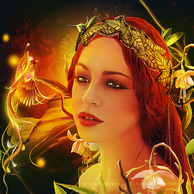 Nature goddess by RazielMB