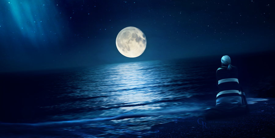 If moon could speak by RazielMB
