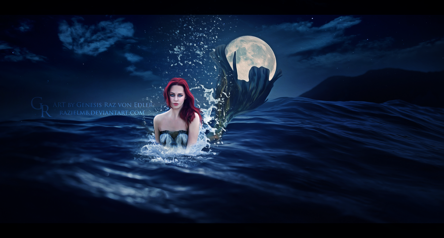 Moon mermaid by RazielMB