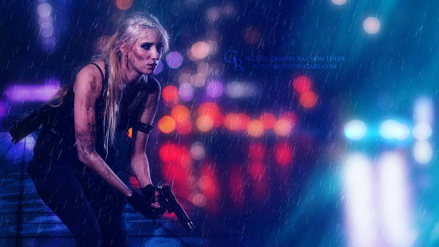 Shooting in the rain by Ellysiumn