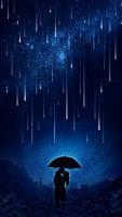 Love under the meteor shower by Ellysiumn