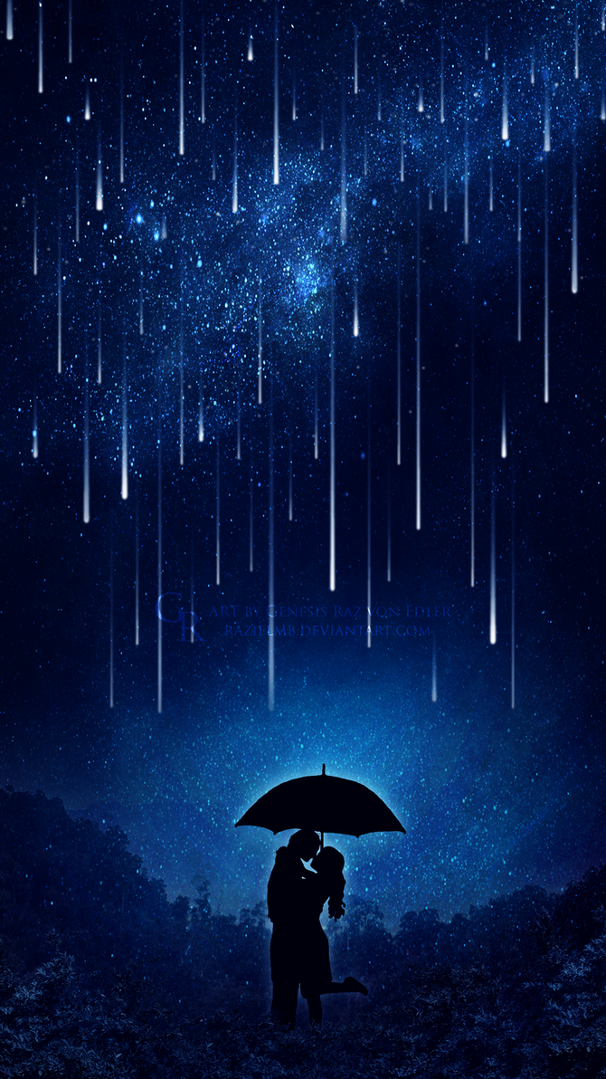 Love under the meteor shower by GeneRazART