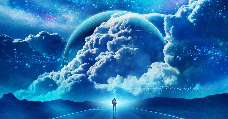 Between the clouds by Ellysiumn