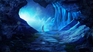 Misty cave