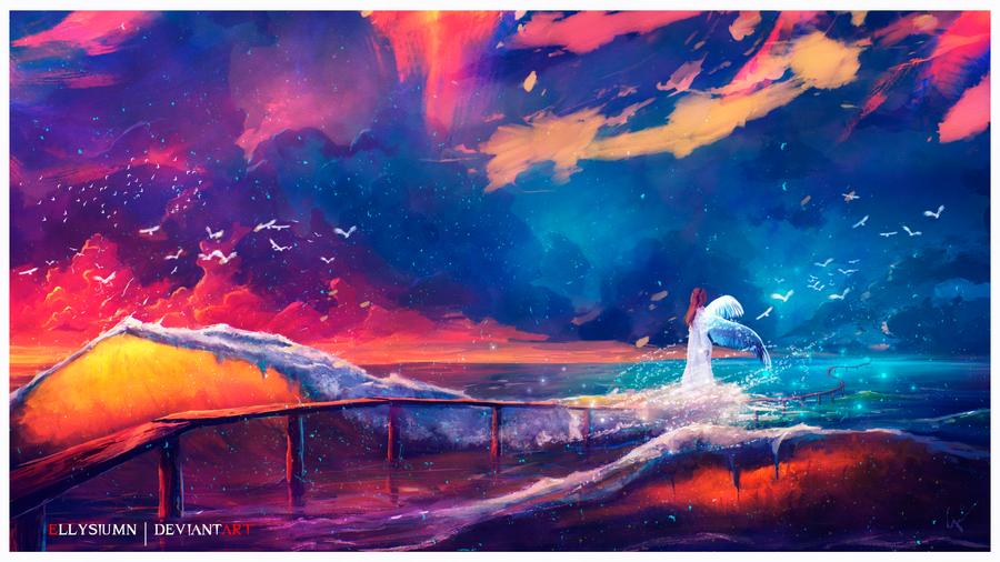 Sea of Angels by Ellysiumn