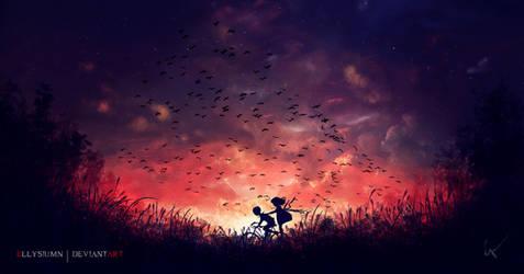 Nightfall by Ellysiumn