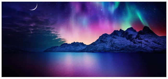 Night rainbow #Daily 2