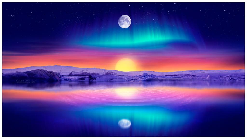 Midnight sun by Ellysiumn