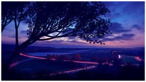 At nightfall