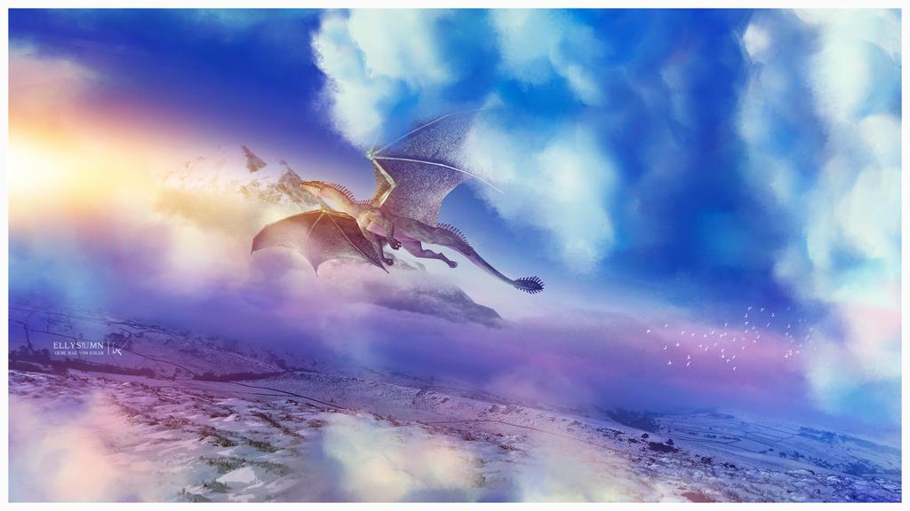 Dragon flight by Ellysiumn