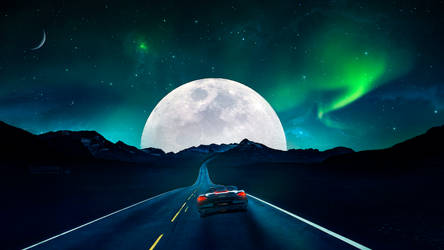 Road to the moon
