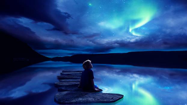 Looking at the Aurora Borealis