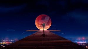 Magical red moon