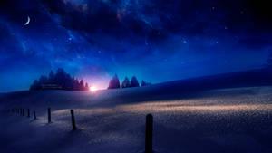Dawn on ice