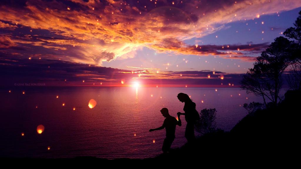 Fairytale sunset by Ellysiumn