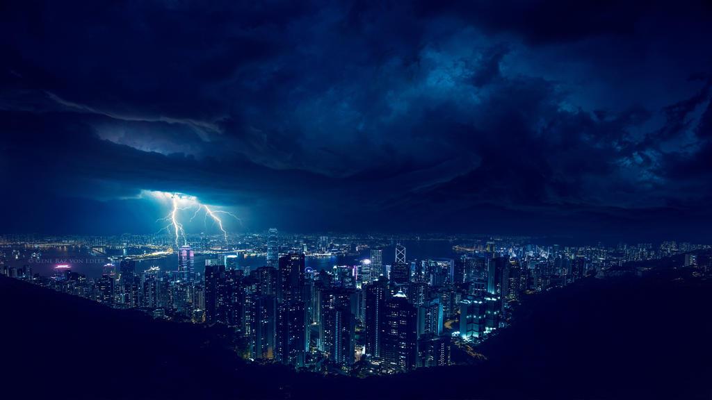 Storm at night 4k by Ellysiumn