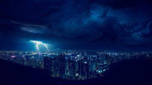 Storm at night 4k