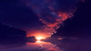 Mystic sunset by Ellysiumn