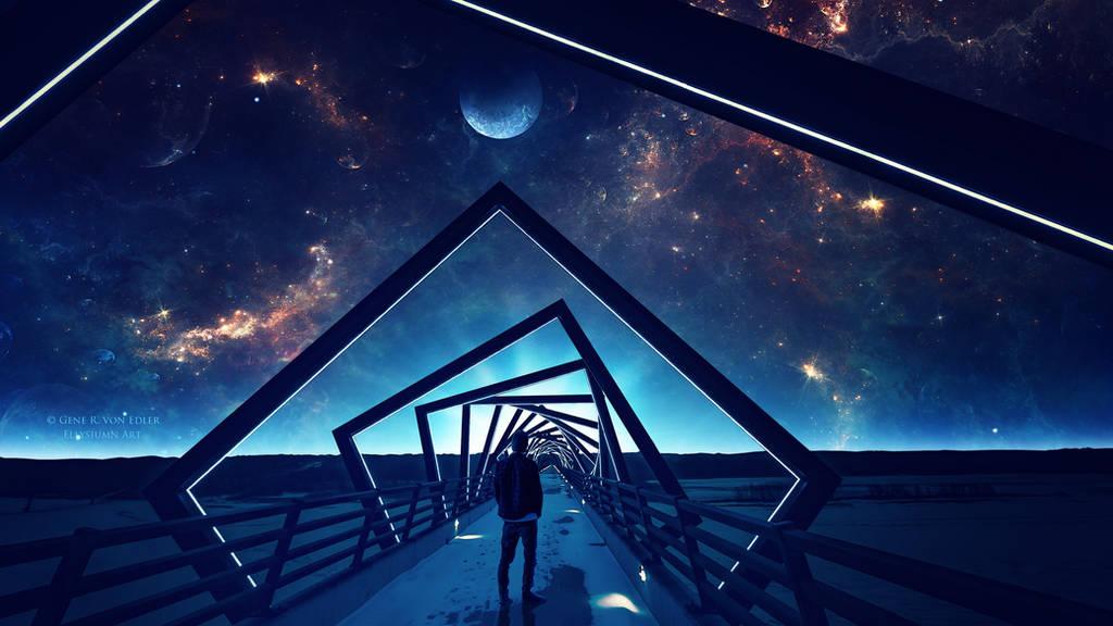 Beyond the bridge by Ellysiumn