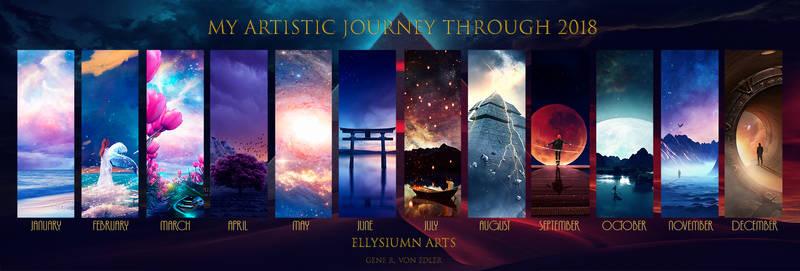 My artistic journey through 2018